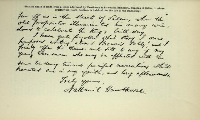 Hawthorne letter 2 - EIHC 32 - 0247