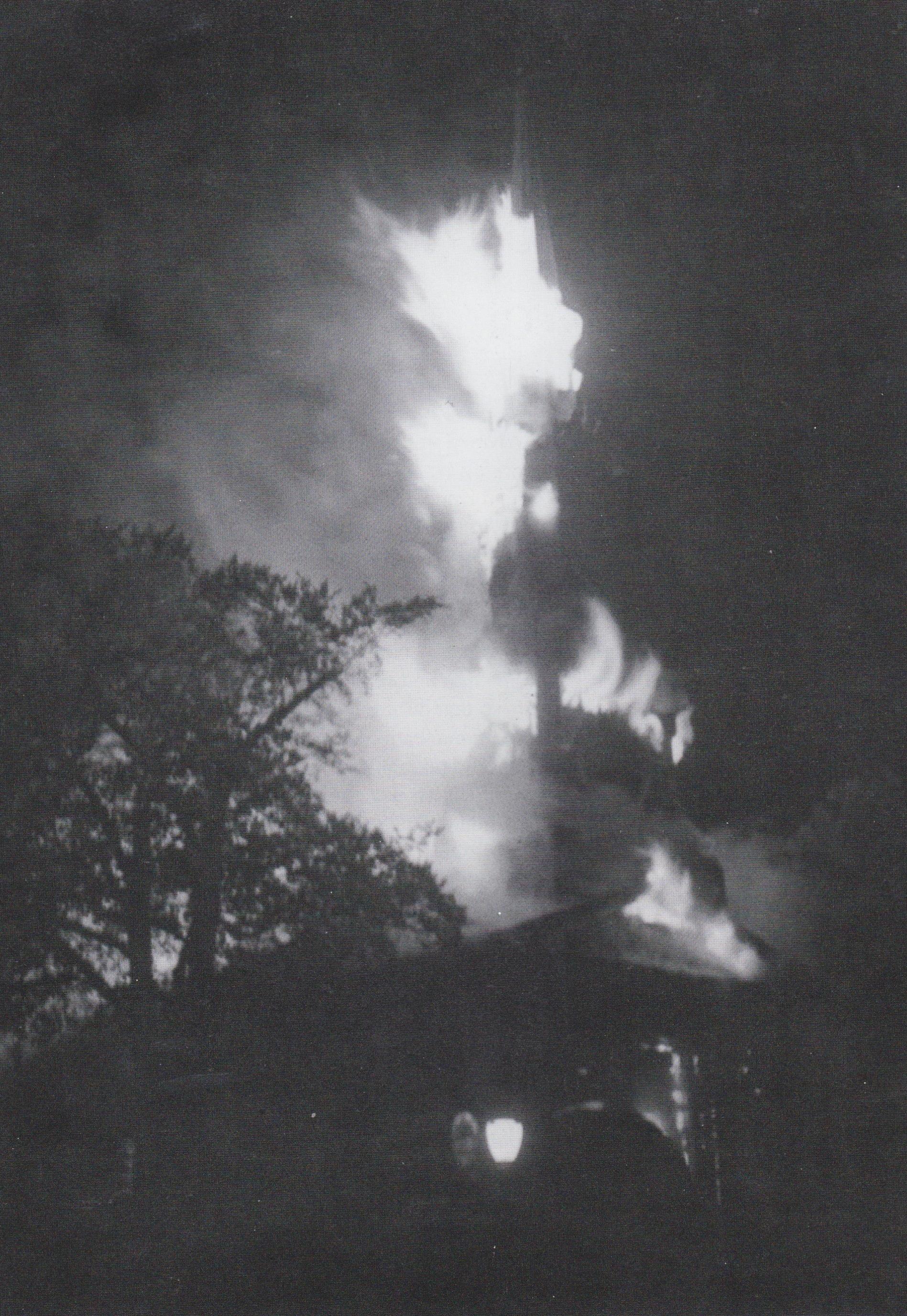 Maple St Church Burning