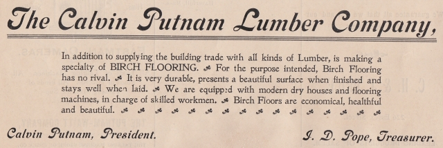 Calvin Putnam Lumber Company